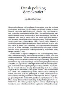 Dansk politi og demokratiet