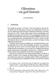 Artiklens forside: Olieretten – en god historie