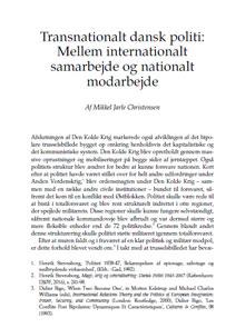 Transnationalt dansk politi: Mellem internationalt samarbejde og nationalt modarbejde